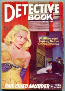 Detective Book Magazine Pulp Spring 1946- Jean Leslie- Great GGA cover G