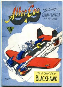 Alter Ego #8 1965- Fanzine fandom- Blackhawk- Biljo White FN-