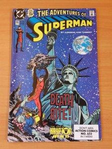 Adventures of Superman #465 ~ NEAR MINT NM ~ 1990 DC COMICS