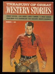 TREASURY OF GREAT WESTERN STORIES #1 1965-LOUIS L'AMOUR FN