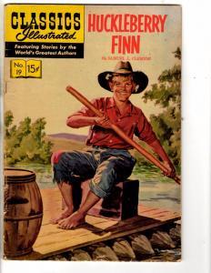 3 Classics Illustrated Comic Books # 19 (140) 48 (130) 505 (548) Huck Finn J275