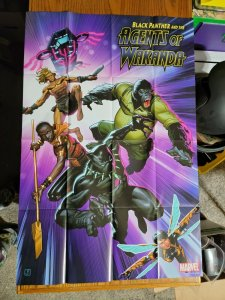 LARGE 36 x 24 Black Panther and the Agents of Wakanda Promo Poster