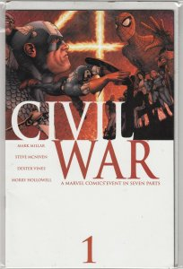CIVIL WAR#1  VF/FN   FIRST PRINT  MARVEL COMICS  WHAT SIDE ARE YOU ON!
