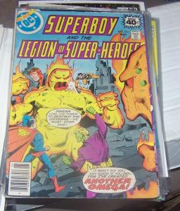 SUPERBOY AND THE LEGION OF SUPER HEROES # 251 DC 1979+ jim starlin OMEGA