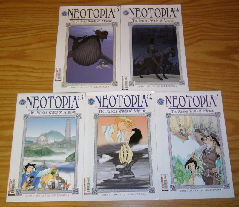 Neotopia vol. 2: the Preilous Winds of Athanon #1-5 VF complete series  espinosa
