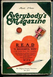 Everybody's Magazine 3/1910-early pulp format-over 100 years old-G/VG