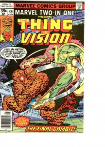Marvel Two-In-One 39 F  Vision!