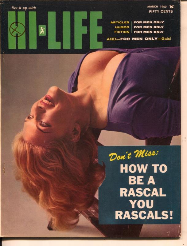 Hi-Life 3/1960-Wilmot-pulp fiction-pi-up pix-Dan DeCarlo art-FN