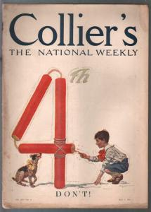 Collier's 7/2/1910-4th of July fireworks cover-Blumenthal-Gibson-Tousey comics-V