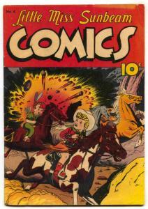 Little Miss Sunbeam #4 1950- Last issue- VG/F
