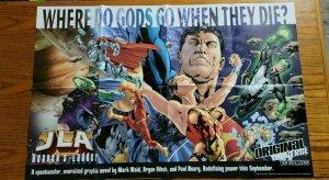 LARGE 34 x 22 JLA Heaven's Ladder DC Comics Promo Poster NO PIN HOLES NEW