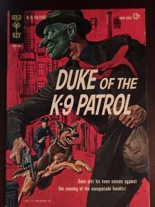 DUKE OF K-9 PATROL #1! GOLD KEY GLOSSY VF- BRIGHT COLORS