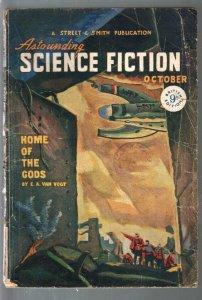 Astounding Science Fiction British Edition10/1947-sci-fi pulp fiction-Van Vogt-G