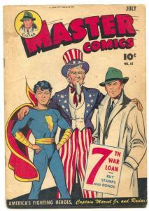 Master Comics #62 1945- UNCLE SAM Cover- Captain Marvel JR