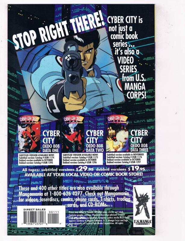 Cyber City Part 1 (1995) #1 CPM Comic Book Manga OEDO 808 HH4 AD38