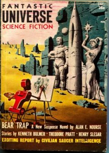 FANTASTIC UNIVERSE SCIENCE FICTION-Dec 1957-Pulp-VIRGIL FINLAY ROBOT COVER