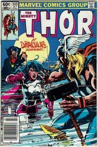 Thor #333 (1966 v1) Sienkiewicz Dracula Newsstand NM-