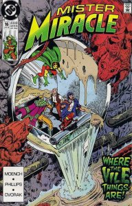 MISTER MIRACLE #16, VF/NM, Doug Moench, 1989 1990, more DC in store