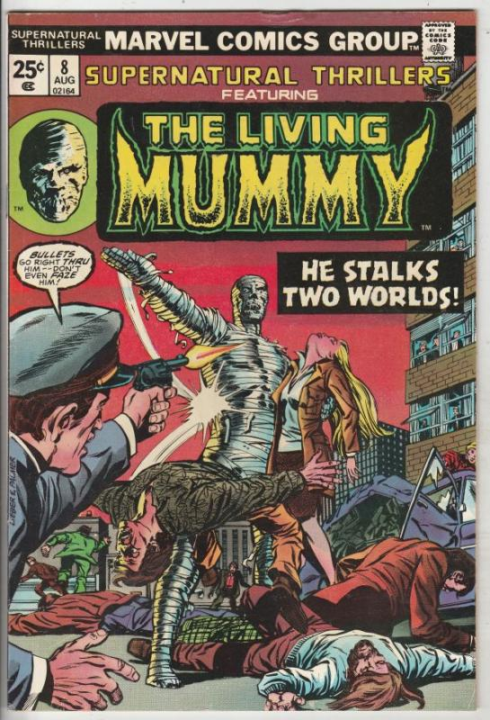 Supernatural Thrillers #8 (Aug-74) VF/NM High-Grade The Mummy