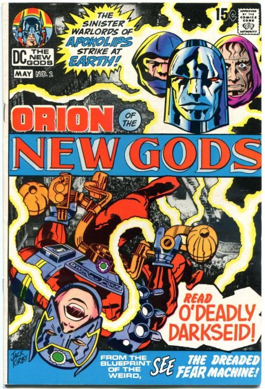 NEW GODS #2, VF, Jack Kirby, Darkseid, 1971, more JK in store, Bronze age