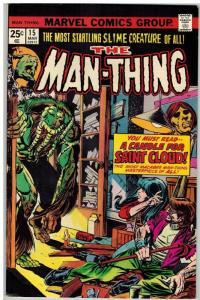 MAN THING (1974) 15 VG-F Mar. 1975