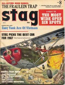 Stag 11/1966-Atlas-Mort Kunstler-Bruce Minney-Sanson Pollen-pulp-Vietnam-VF