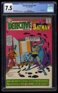 Detective Comics #364 CGC VF- 7.5 Off White to White Batman!