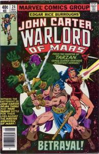 John Carter, Warlord of Mars #24 VF/NM; Marvel | save on shipping - details insi