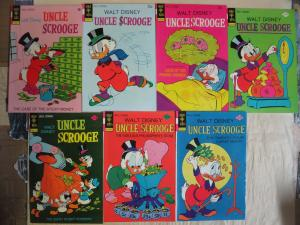 Uncle Scrooge (Gold Key Disney 1972-87) #99-215 Lot 10Diff Richie Duck VF/+