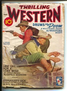Thrilling Western-5/1945-Bradford Scott: Drums of Doom featuring Walt Slade...