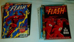 Flash V2 #142-160 + sp Impulse #12-23 Life of Barry Allen, Waid comics lot of 59