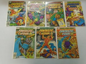 Fantastic Four lot 13 different issues from #207-221 avg 4.0 VG (1979-80)