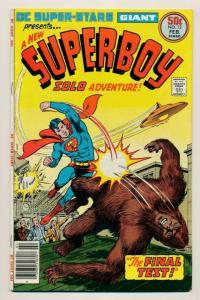 DC Comics Super-Stars SUPERBOY #12 . 1977  ~ FN (PF676) Newsstand