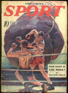 SPORT STORY 6/1939-VIOLENT BOXING COVER VG