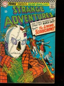 STRANGE ADVENTURES #192 1966 DC LIVING SCARECROWS FREAK FN