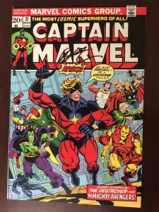 CAPTAIN MARVEL #31 VF! SIGNED JIM STARLIN! THE ULTIMATE THANOS COLLECTION!