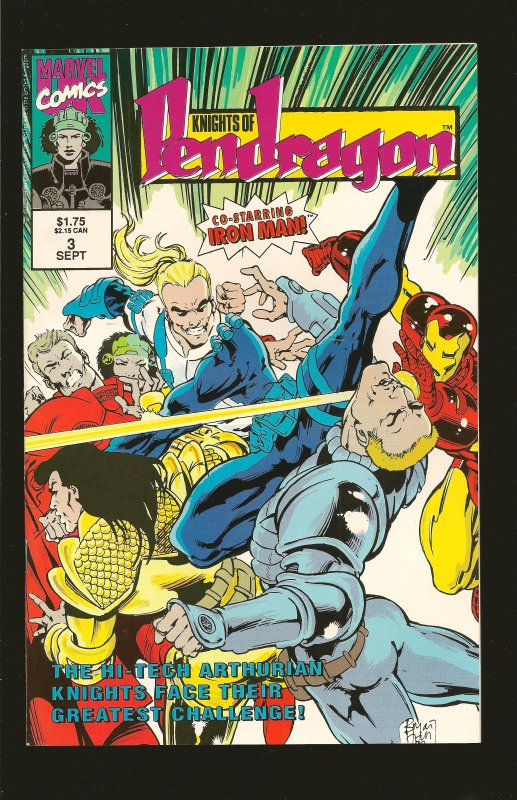 Marvel Comics Knights of Pendragon (UK) #3 September (1992)