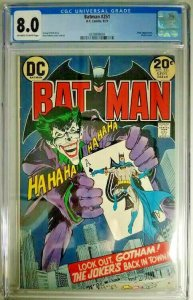 1973 DC~Batman #251~CGC 8.0 (VF)~Joker Appearance/ Classic Cover