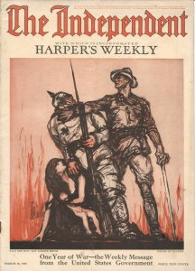 The Independent 3/30/1918-WWI issue 100+ years old-incorporates Harper's Week...