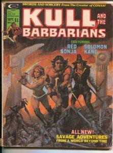Kull and the Barbarians #3 1975-Marvel-Red Sonja-history of Solomon Kane-Robe...