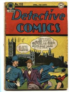 Detective #110 1946-DC-Batman-Air Wave-Boy Commando Golden-Age