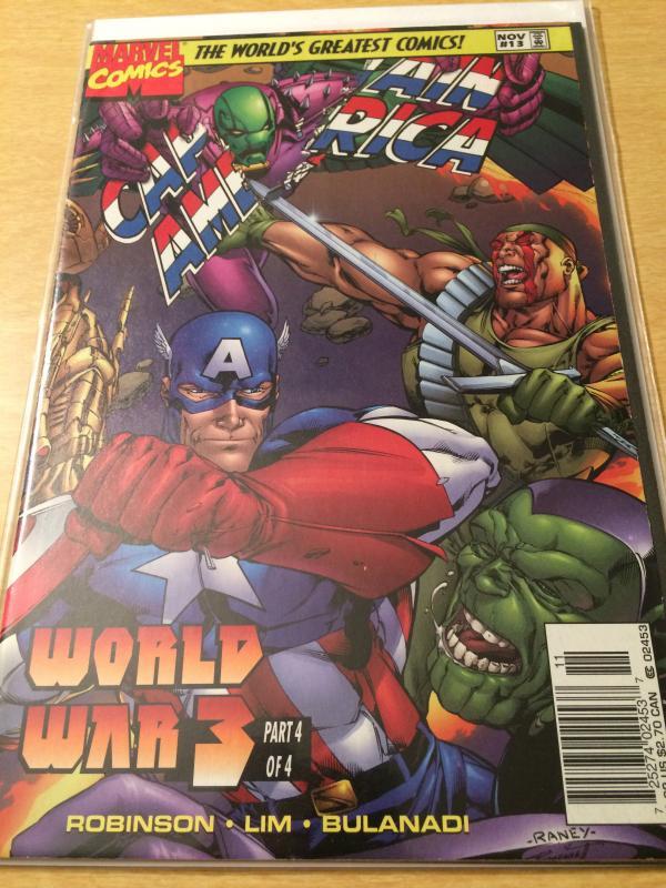 Captain America #13 Heroes Reborn World War 3