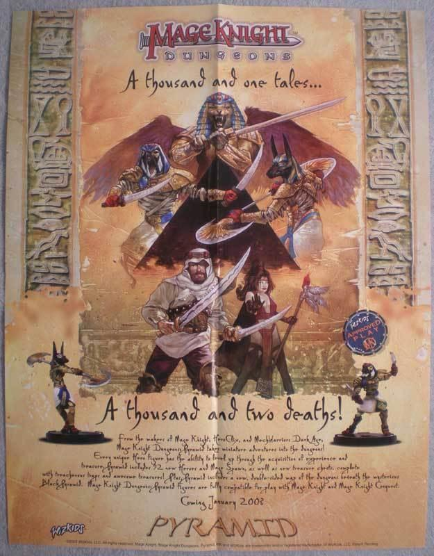 MAGE KNIGHT DUNGEONS Promo poster, 17x22, 2003, Unused, more Promos in store