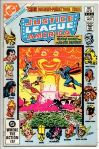 JUSTICE LEAGUE OF AMERICA #208, NM-, Justice Society, All-Star Squardron, He-Man
