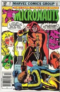 Micronauts (1979 series) #34, VG+ (Stock photo)