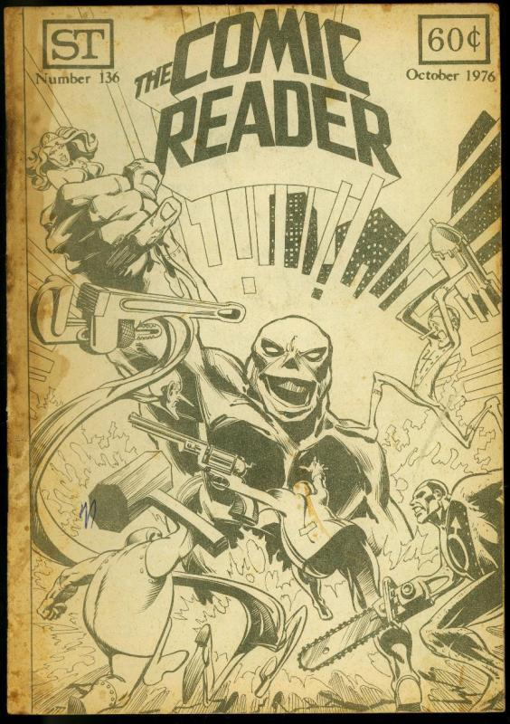 The Comic Reader Fanzine #136 1976- Metal Men cover FR/G