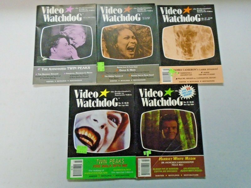 Video Watchdog Lot of 10 Different Early Issues Average 6.0 FN (1990-1996)