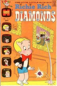 RICHIE RICH DIAMONDS (1972-1982) 3 VF-NM  Dec. 1972 COMICS BOOK