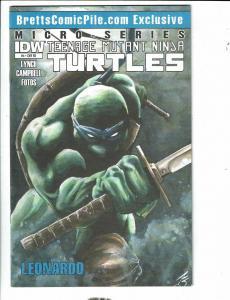 Teenage Mutant Ninja Turtles # 4 VF/NM Leonardo Micro Series 1 Of 100 IDW J289