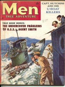Men 2/1958-Atlas-U-Boats-WWII-scandals-cheesecake-exploitation-G